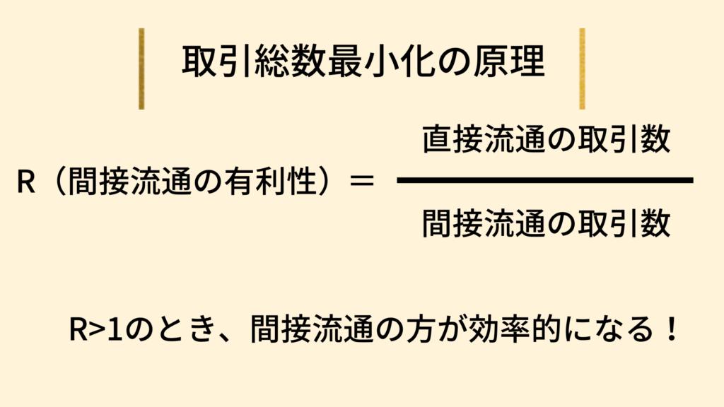 間接流通の有利性の式
